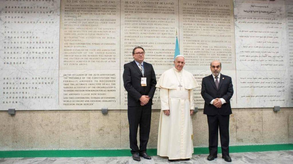 El Papa habla sobre el neomaltusianismo frente a la FAO.